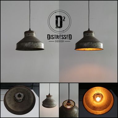 Custom Made Repurposed Milk Strainer Pendant Light With Edison Globe Bulb