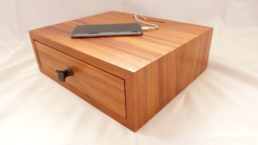 Custom Made Charging Station With Integrated Usb Charging Port And Drawer