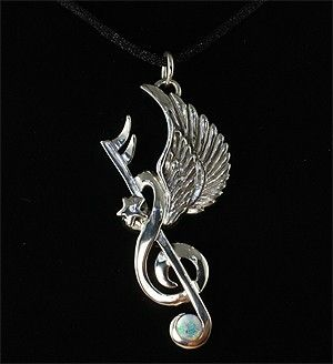 Custom Made Opal Inlay G Clef