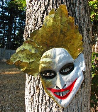 "Custom Made Solid Brass Joker Wall Mask ""Bad Hair Day''"