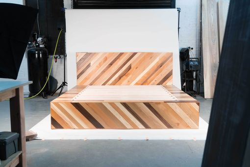 Custom Made Storage Platform Bed - Natural