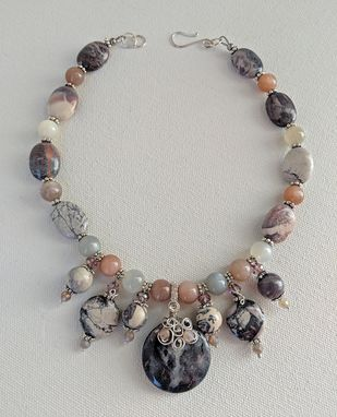 Custom Made Terra Rosa And Sterling Silver Necklace