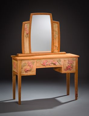 Custom Made Dressing Table With Hummingbird And Flowers