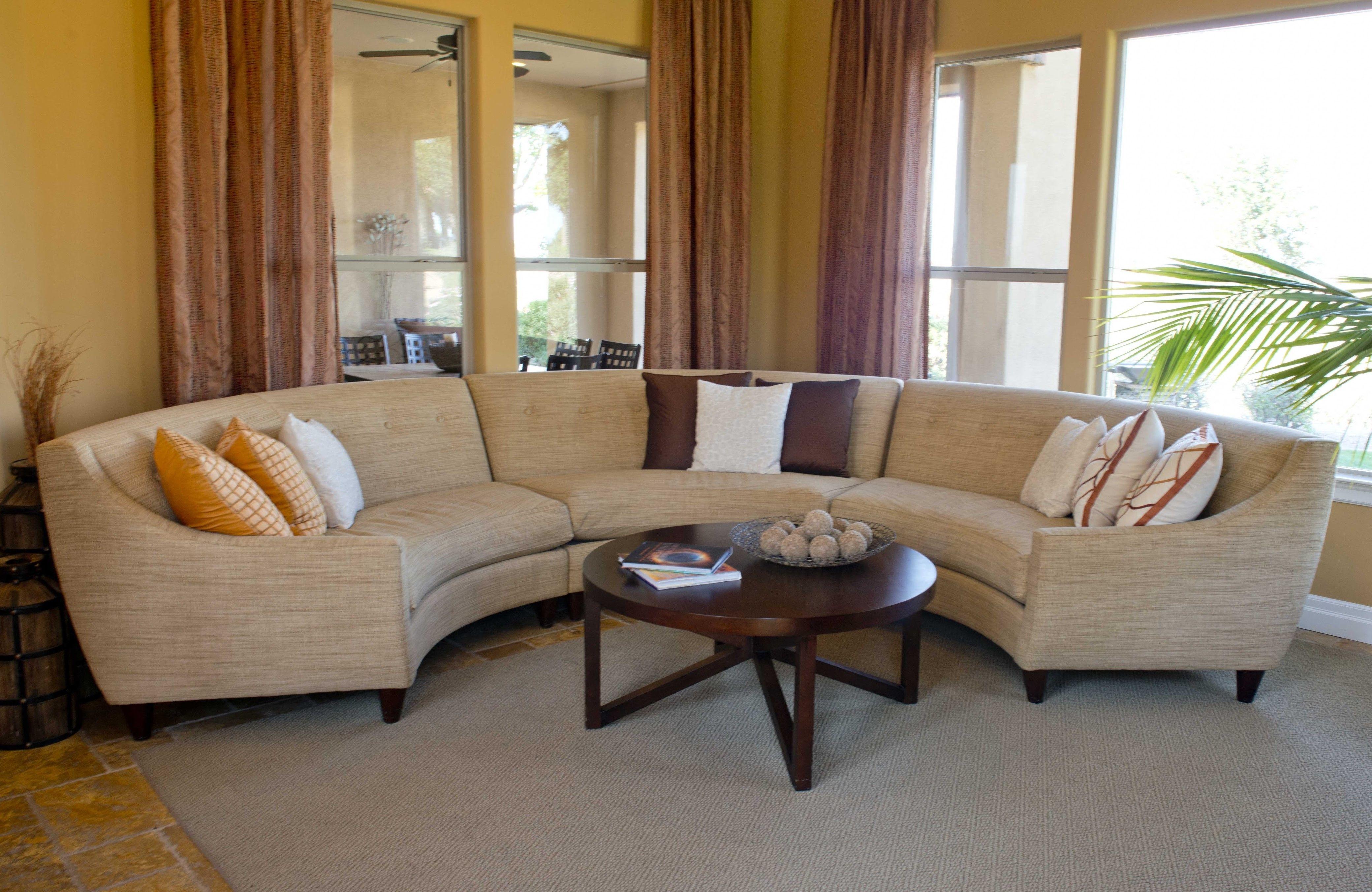 Hand Made Circular Sectional Sofa By