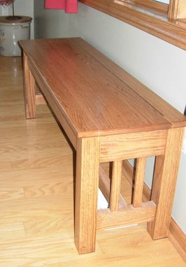 Custom Made Bench With Storage