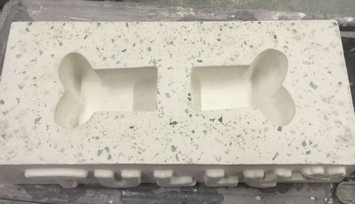 Custom Made Custom Concrete Dog Bowl