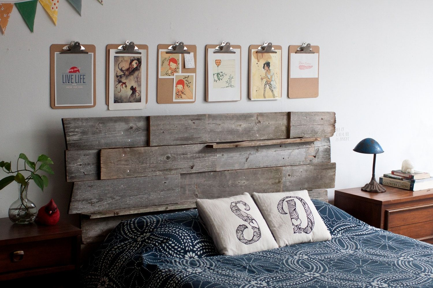 Custom Made Reclaimed Wood Head Board Or Backdrop - Custom Made Reclaimed Wood Head Board Or Backdrop By Whisky Ginger