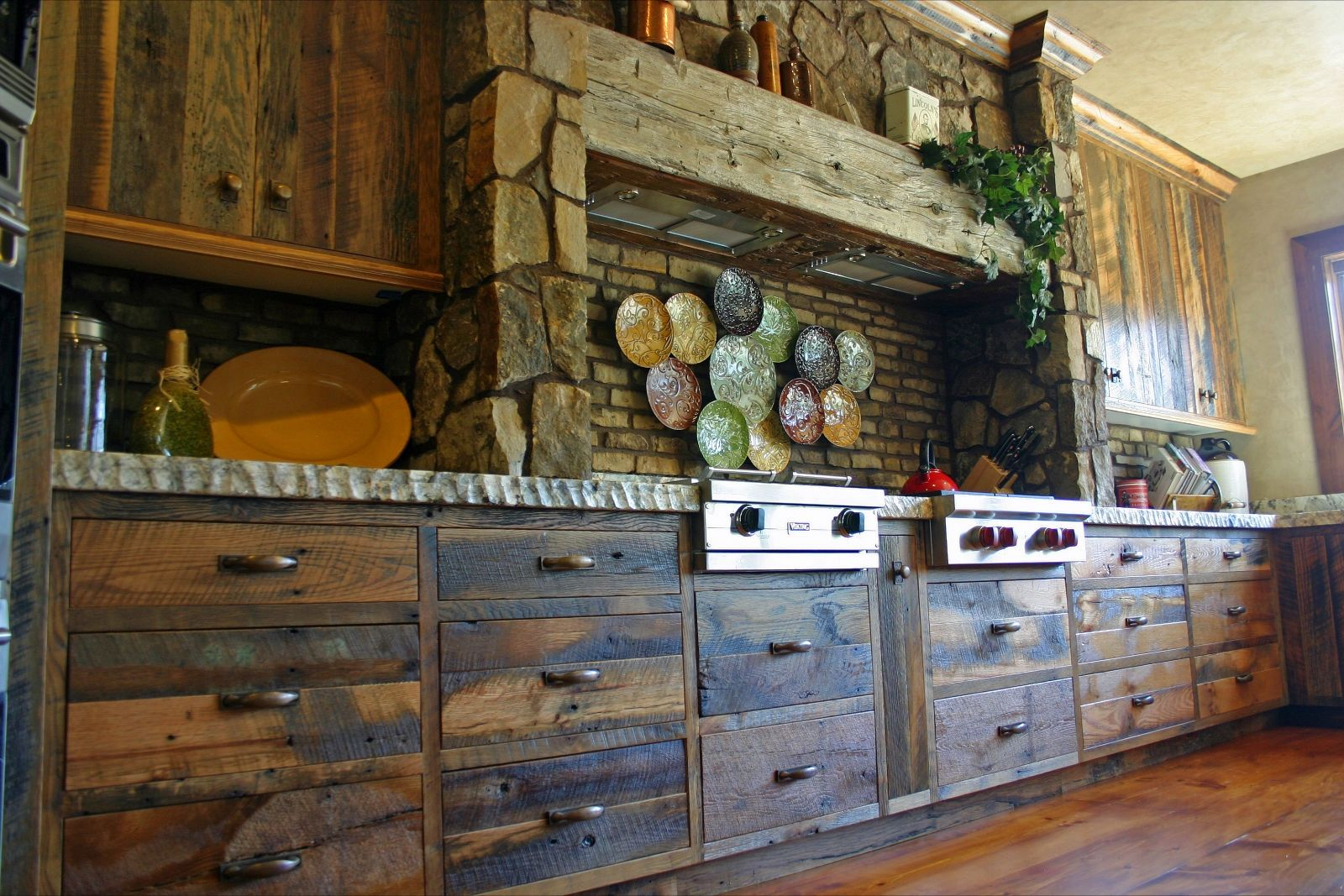 Custom Made Reclaimed Oak Cabinetry
