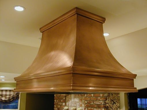 Custom Made Custom Copper Kitchen Hood
