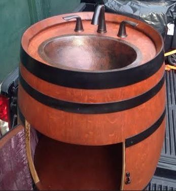 Custom Made Vanity Wine Barrel