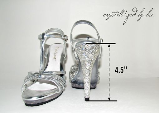 Custom Made Crystallized Stiletto Heels Made With Swarovski Crystals - Heels Only