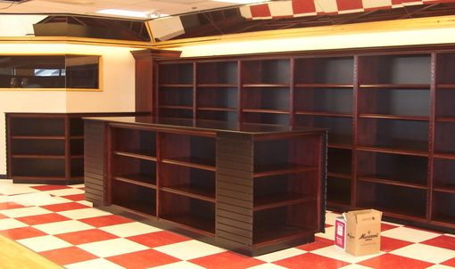 Custom Made Liquor Store Cabinetry