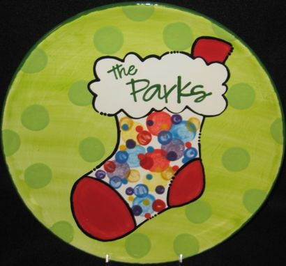 Custom Made Big Family Stocking Plate/Platter