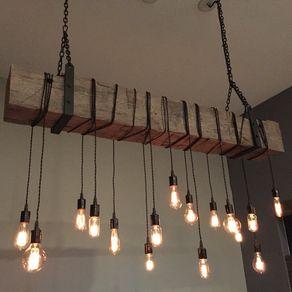 beam chandelier light fixture modern industrial rustic lighting. Black Bedroom Furniture Sets. Home Design Ideas