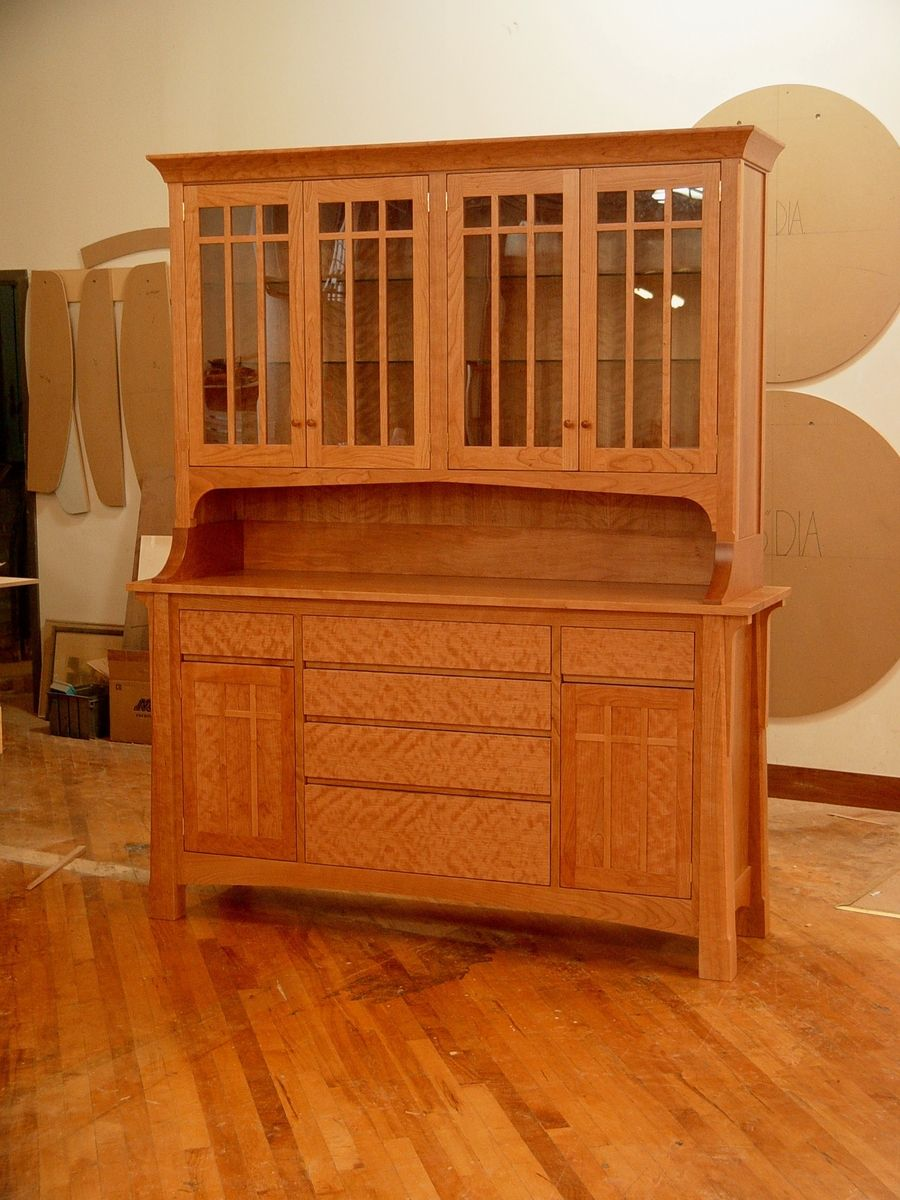 Hand Crafted Cherry Hutch By Kirk Custom Furniture