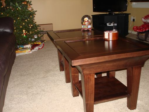 Custom Made Coffee Table Pair