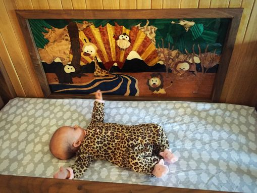 Custom Made Marquetry Crib