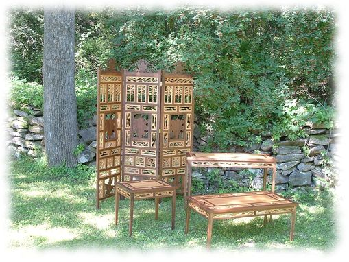 Custom Made Sylvan Dressing Screen And Tables