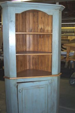 Custom Made Corner Cabinet By Ecustomfinishes Reclaimed