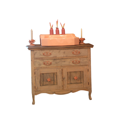 Custom Made Reclaimed Vintage Vanity, Modern Rustic Using Annie Sloan Chalk Paint®