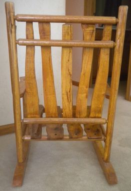 Custom Made Child's Log Rocking Chair