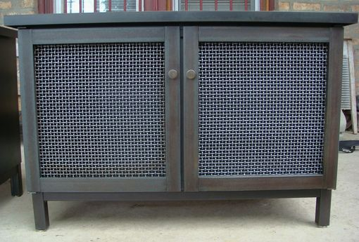 Custom Made Cabinet & Radiator Cover – Industrial Modern