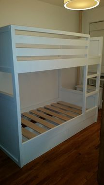 Custom Made Twin Over Twin Bunk Bed With Storage