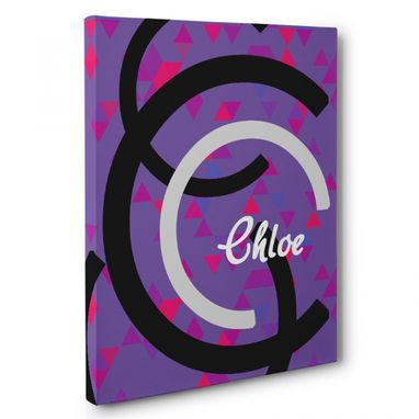 Custom Made C Letter Custom Name Canvas Wall Art