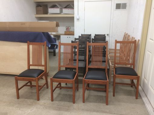Custom Made Solid Cherry Mission Style Dining Chairs