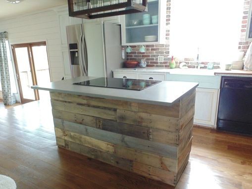 Custom Made Reclaimed Wood Interest Wall Or Island Covering