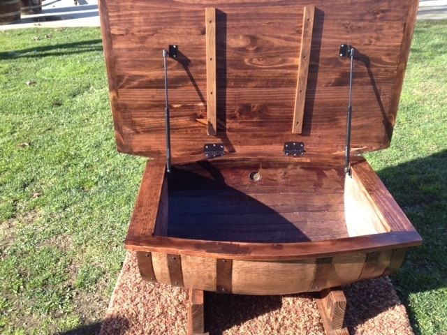 custom wine barrel coffee tablewyld at heart customs