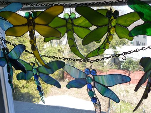 Custom Made Stained Glass Damselfly