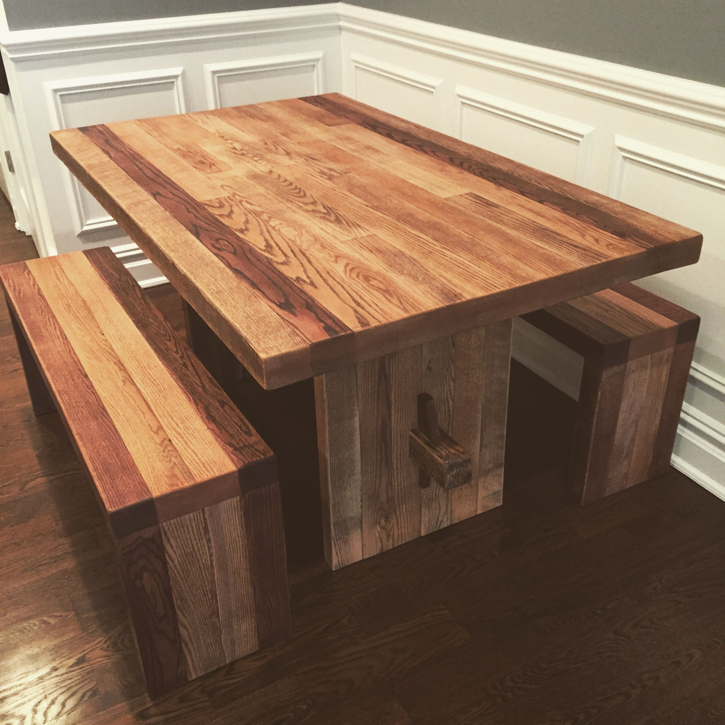 Buy a Custom Wood Indoor Picnic Table made to order from Wood