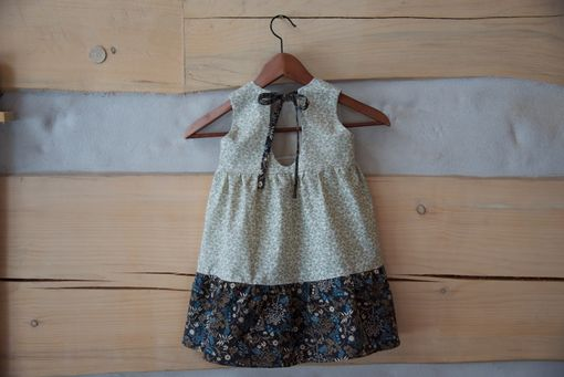 Custom Made Baby Dress - Cotton Earth Tones