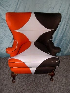 Custom Made Maija Isola Rare 1973 Fabric Wing Chair