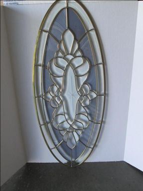 Custom Made Beveled Glass Oval Panel