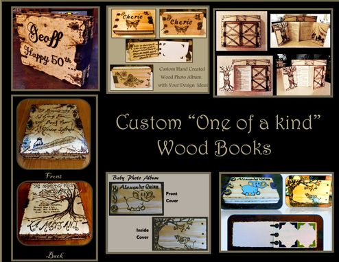 Custom Made Gifts For Men,Gifts For Women,Wood Books,Wood Photo Album,Journal