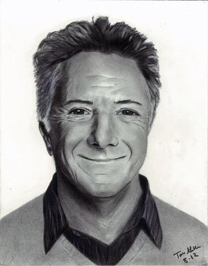 Custom Made Portrait Drawing Of Dustin Hoffman (1 Subject)
