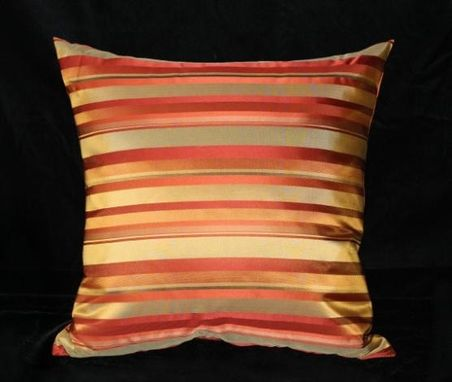 Custom Made Chateau: Bronze Stripes Pillow