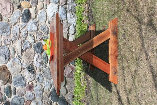 Custom Made Salvaged Northern Michigan Cherry Barn Wood Harvest Table With Recycled Copper Nails