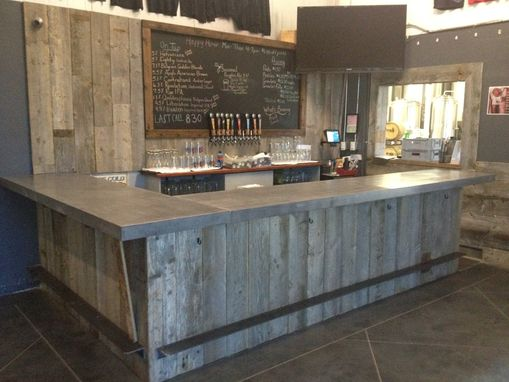 Hand Crafted Reclaimed Wood Tasting Room Wall Cladding