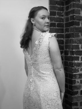 Custom Made Molly - Handmade Alternative Wedding Dress Vintage Antique Crocheted Lace V-Neck Mermaid Gown