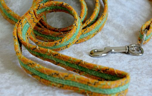 Custom Made Dog Leash. Fabric Wrapped Clothesline. Medium To Large Dog