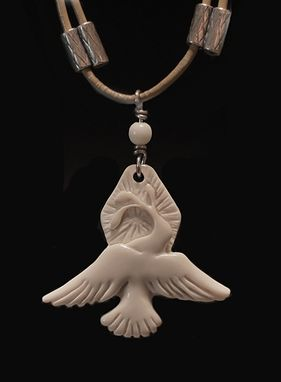 Custom Made Peace Dove ~ Hand Carved Ancient Mammoth Ivory