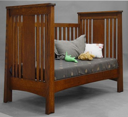 Custom Made Quartersawn Oak Mackintosh  Convertible Crib
