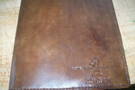 Custom Made Custom Leather Legal Size Portfolio With Custom Logo