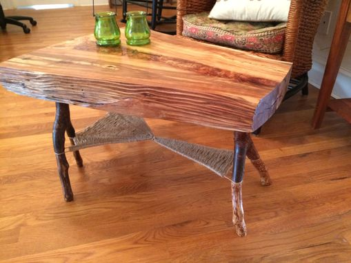 Custom Made Woven Web Coffee Table