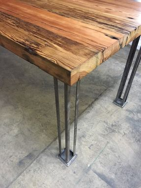 Custom Made Mid Century Modern Steel Column Legs