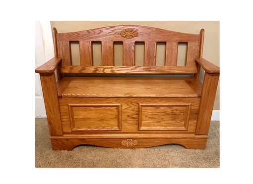 Custom Made Grandma's Classic Oak Chest Lined With Aromatic Red Cedar.