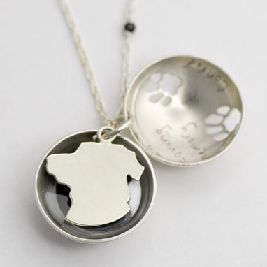 Custom Made Modern Locket: Pet Memorial